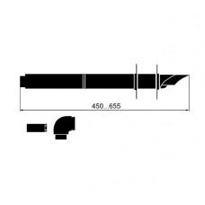 Vaillant  Удлинитель телескопический  DN 60/100 белый